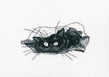 Набор для вышивки крестом Среди черных котов 3 - Among black cats 3