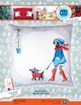 Набор для вышивки крестом Зимняя прогулка - Winter walk