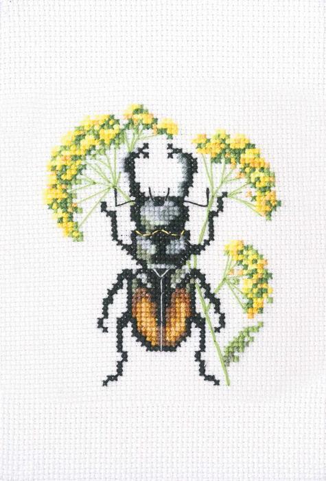 Вышивка крестом жуки