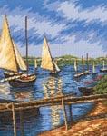 Набор для вышивки крестом Парусные лодки