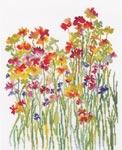 Набор для вышивки крестом Акварель цветов - Flower watercolour