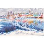 Хрустальные тени на льдинах Невы - Cristal shades on Nevas ise floes