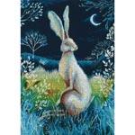 Набор для вышивки крестом Заяц под покровом ночи - Hare by night