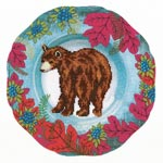 """Набор для вышивки крестом Набор для вышивания крестом """"Лесной декор. Медведь"""""""