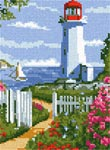 Бесплатная схема для вышивки крестом Маленький маяк