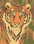 Бесплатная схема  для вышивки крестом Тигр