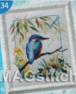 Вышивка крестом птичка невеличка