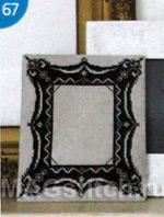 Вышивка крестом черное кружево