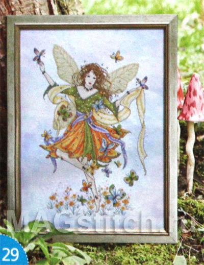 Вышивка крестом фея бабочек
