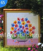 Вышивка крестом цветочный фейерверк