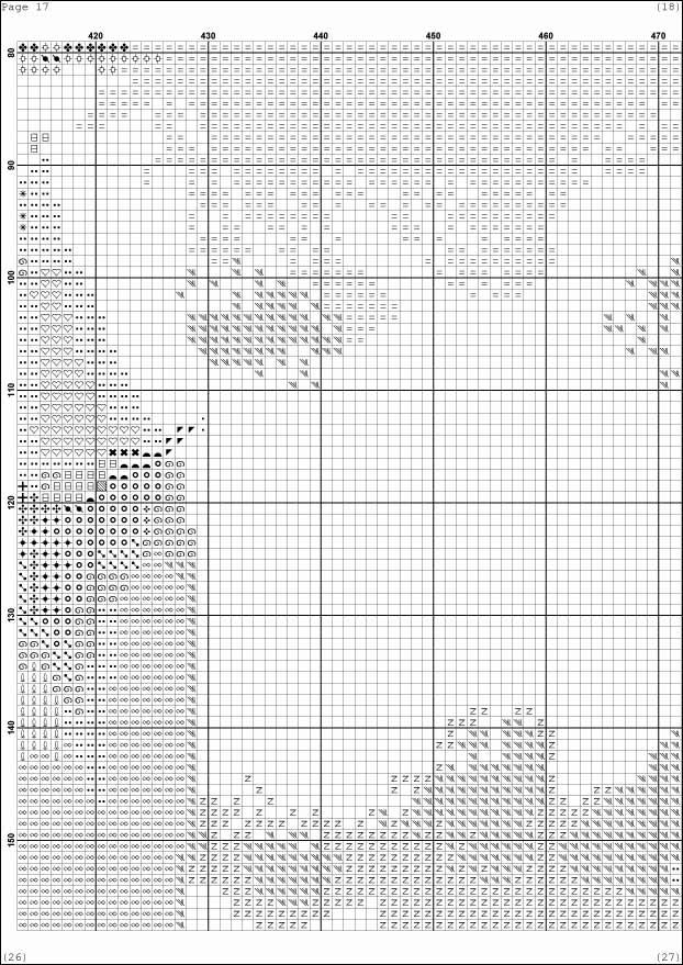 Схема вышивки Парусник