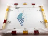 Зажимы для боковой натяжки канвы лицо вышивки