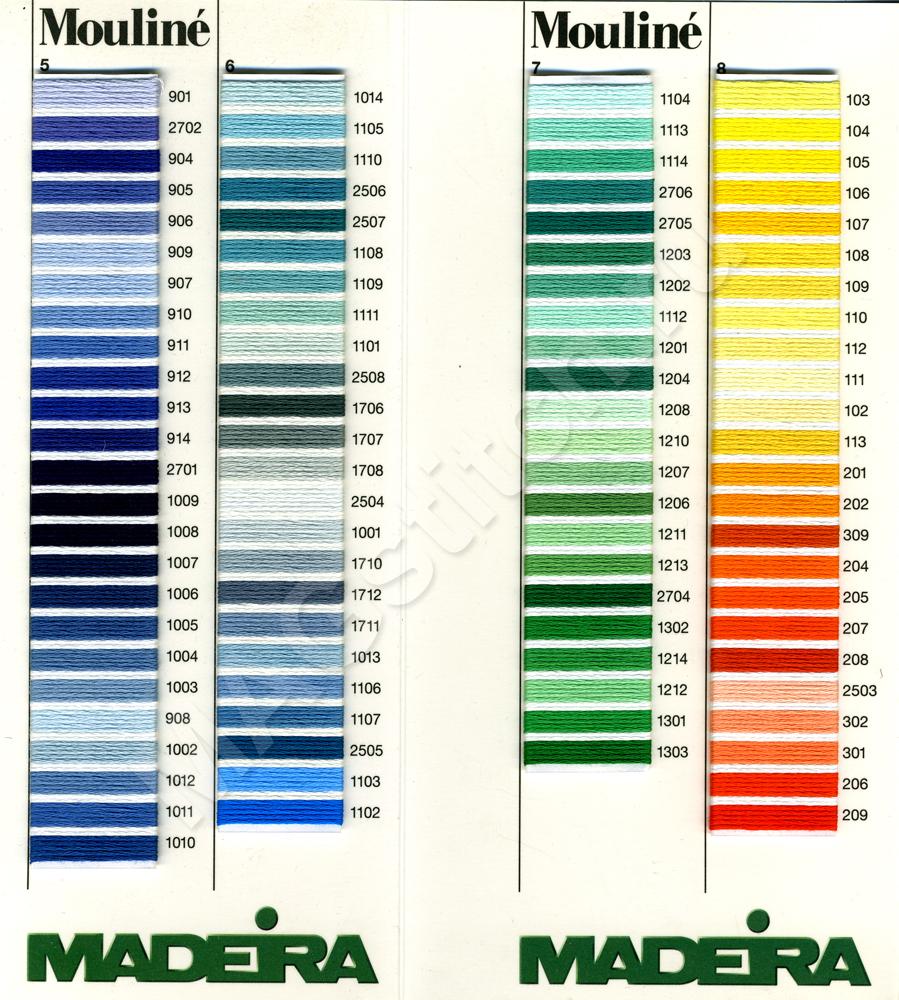схема цветов мулине