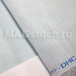 Канва лен DMC 28  голубой 312 light blue ОТРЕЗ 40x40