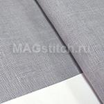 Канва лен DMC 28  серый средний 318 rock pigeon ОТРЕЗ 30x35