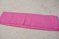 Трикотажная ткань (подвяз), круговой вязки, 23 х 85 см цвет ярко-розовый