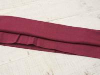 Трикотажная ткань (подвяз), круговой вязки, 23 х 85 см цвет бордовый