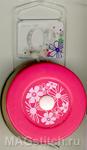 """Сантиметр рулетка на магнитной основе """"Цветы на розовом"""""""