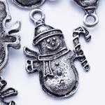 """Подвеска """"Снеговик"""" цвет серебро"""