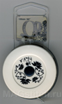 """Сантиметр рулетка на магнитной основе """"Цветы на белом"""""""