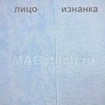 Канва лен Belfast 32 Vintage - 5139 голубые облака ОТРЕЗ 50х70