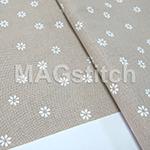 Канва Murano 32 Zweigart 7399 Petit Point  белый цветочек ОТРЕЗ 30х35