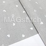 Канва для вышивания Канва Murano 32 Zweigart 7409 Petit Point  сердечко