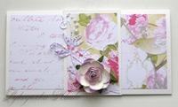 """Денежный конверт ручной работы """"Цветы"""""""