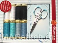 Подарочный набор ниток  голубой Gutermann
