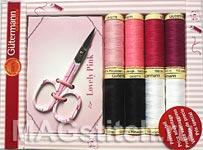 Подарочный набор ниток розовый Gutermann