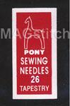 Иглы для вышивки крестом №26 PONY