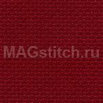 Канва для вышивания Канва AIDA 18 Zweigart 9060 темно-красная  ОТРЕЗ 48x53