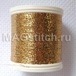 """Металлизированные нитки для ввязывания """"Красное золото"""""""