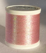 Сверкающие нитки для ввязывания и вышивки РОЗОВЫЕ