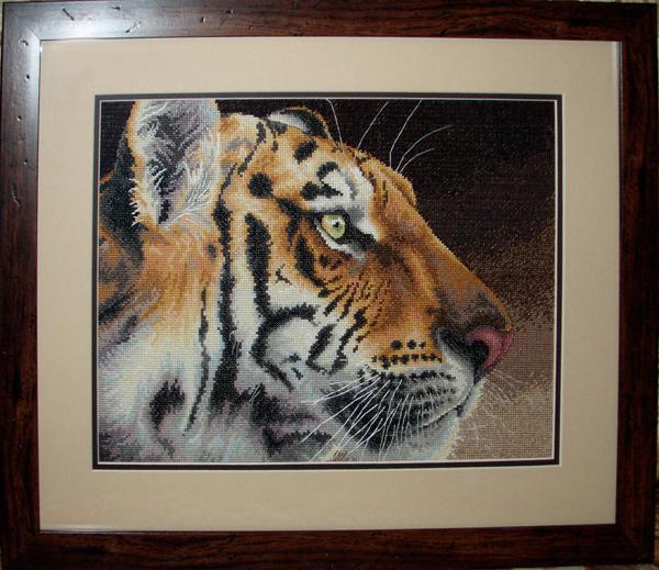 Тигр вышивка оформление