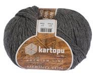 Пряжа Мерино Вул - Merino wool K1002 темно-серый