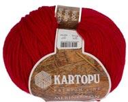 Пряжа Мерино Вул - Merino wool K112 красный