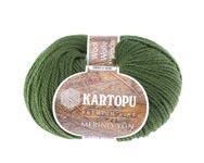 Пряжа Мерино Вул - Merino wool K409 зеленый