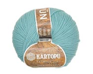 Пряжа Мерино Вул - Merino wool K435 светло-бирюзовый