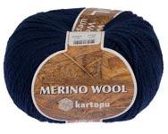Пряжа Мерино Вул - Merino wool K634 синий
