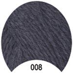 Пряжа Мерино Голд - Merino Gold 00008 серый средний