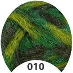 Пряжа Арита - Arita 00010 зеленый мультиколор