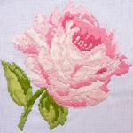 cхема  вышивки  гладью Подушка Роза