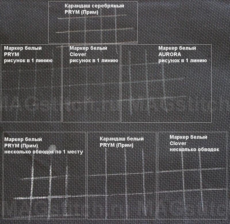 Как разметить черную канву для вышивки