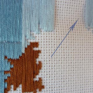 Как вязать по схеме вышивки