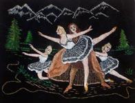 Вышитая картина гладью Балет