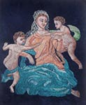 Вышивка гладью Дама с младенцами