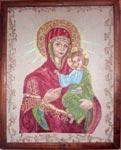 Вышивка гладью Икона Богородица Одигитрия