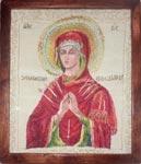 Вышивка гладью Икона Богородица Семистрельная