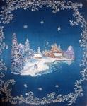 Вышитая картина Первый снег